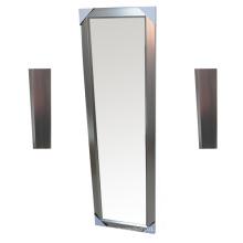 PS espelho de vidro dourado para decoração de casa