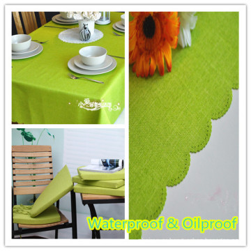Waterproof Oilproof Polyester Fabric Table Cloth