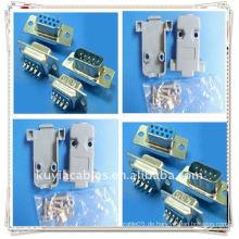 DB9 Stecker DB9, RS232 9-poliger Steckverbinder-Gehäuse mit Hardware