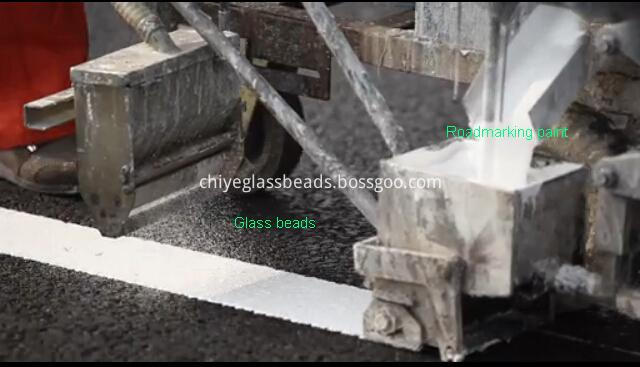 BS6088 Reflective Beads for Thermoplastic Marking Paint