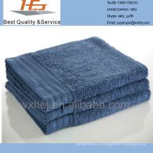 сплошной цвет Добби лист махровое банное полотенце
