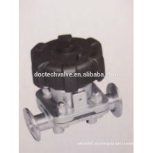 Válvula de diafragma de acero inoxidable instalación rápida