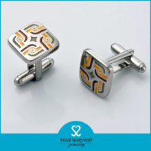 Hot Fashion Swank Silver Cufflinks (SH-BC0010)