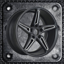 Multi surface finish alloy wheels