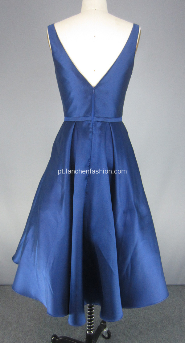 Royal Blue V Neck Evening Cocktail Gowns