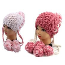 Piña hecha a mano POM POM Winter Women Girl Beanie Hat