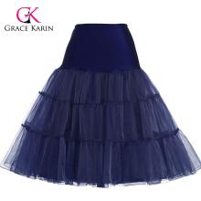 Grace Karin azul marino Tutu enaguas falda de crinolina enagua para la boda vestido de la vendimia CL008922-8