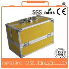 golden aluminum hairdresser tool case for sale