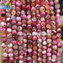 facetas ágata natural rubí piedra semi preciosa piedra