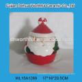 2016 Popular santa claus design ceramic storage jar