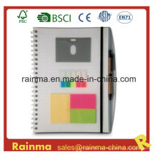 PVC Cover Notebook mit Memo Sticky