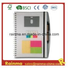 Caderno de capa de PVC com Memo Sticky