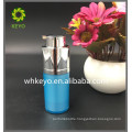 15ml Hot sale make up packing blue colored empty cosmetic High quality acrylic lotion bottle with self lock pump