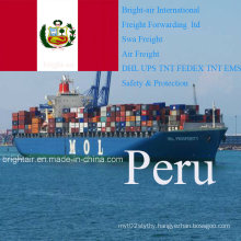 Freight Forwarder Express Rate From China to Lima, Callao, Peru