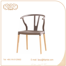 Hot sale wood four legs living room chair,pp and wooden chair,classic design dining chair
