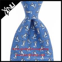 Animal Design Mens 100% Silk Wholesale Digital Print Skinny Ties