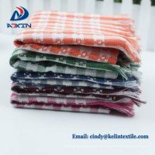 Promotion produit gaufré brodé ensemble de serviette de cuisine