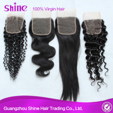 Brazilian Cheap Human Hair Light Brown Lace Closure