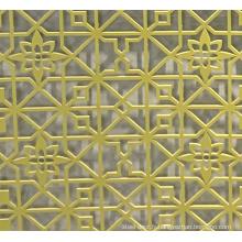 Feuille d'aluminium enduit de couleur de mur rideau Ral