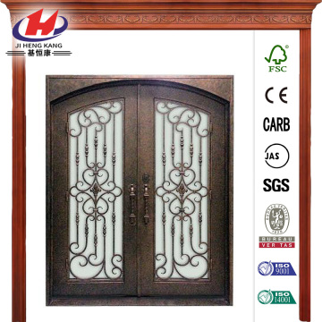 Steel Double Wrought Iron Prehung Front Door