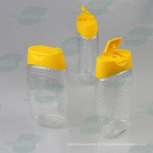 500g pet plástico mel garrafa com tampa de válvula de silicone (PPC-PHB-63)