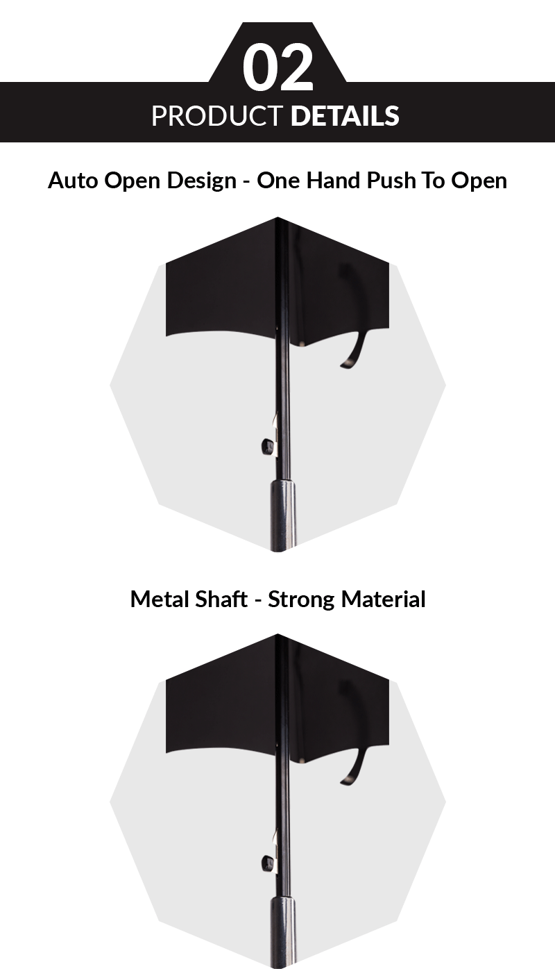 black stick umbrella