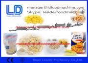 Gas / Diesel / Electric Extruded Snacks Machinery , Automatic Corn Flakes Machine