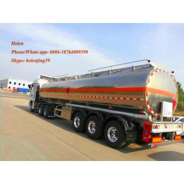 Remorque-citerne en aluminium 3 Alxe avec suspension pneumatique