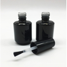 custom made empty uv gel black cosmetic glass nail polish bottle 15ml