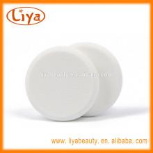 Nature douce cosmétiques sans latex composent couleur blanche bouffée