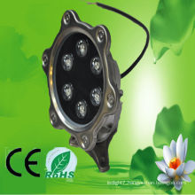 China Huerler 3w 5w 6w 9w 12w 18w IP68 stainless led underwater light 12v 24v with CE & ROHS approved