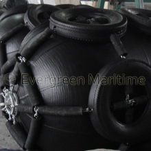 Pneumatic Rubber Fenders with Chains and Tires Cage for Boat Protection