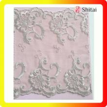 Leading for Net Lace Trimming,Embroidered Tulle Fabric,Net Lace Fabric Manufacturer in China poly fringe 3.8cm embroidered net lace trimming export to Italy Wholesale