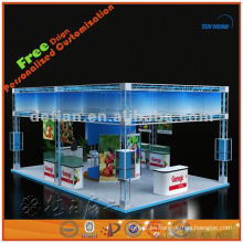 Espacio expo estructural mostrar el diseño del stand exportado desde Shanghai