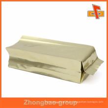 Gravur Druck goldene Seite Zwickel Taschen für Tee Kaffee oder Essen