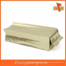 Impression par héliogravure Sacs de gousset côté doré pour thé, café ou nourriture