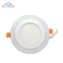 high quality factory price round crystal model 6+3W 12+4w led two color panel