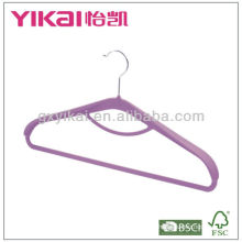 Rubber lacquer ABS coat hanger with tie rack