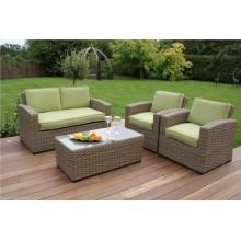 New 4PCS Green Rattan Garden Chair Set