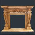 Cheminée à marbre profond et beige pour la décoration (SY-MF005)