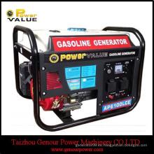 Valor de la energía 50hz grupo electrógeno de 220 voltios, 3000w generador portable 100% cobre con el combustible de la gasolina para el uso casero