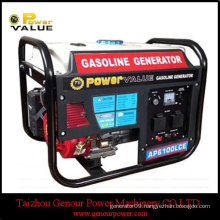 Power Value 50hz 220 volt generator set, 3000w portable generator 100% copper with gasoline fuel for homeuse