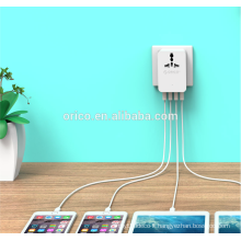 ORICO S4U Global Multifunctional Travel Adaptor wholesale mini 4 USB port wall portable charger