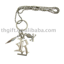 The pirates design metal necklace