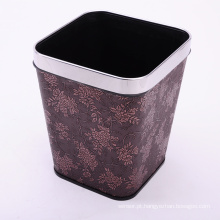 Leather Covered Square Open Top Dustbin