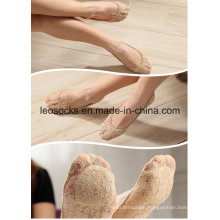 Lace Womens Ankle Invisible Lace Socks with Gel Pad