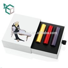 Triangle de boîte cosmétique de papier d'art avec l'emballage de PVC