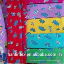 Fabricant Chine Tissu en flanelle en coton plein imprimé ou plissé simple avec double paroi brossé