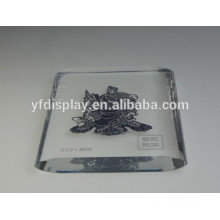 Transparent Clear Acrylic Embedment Photo Frame Paperweight