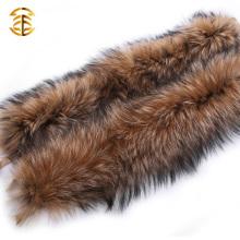 Collier de fourrure de raccoon naturel et grande Collier de fourrure de raccoon pour capuche